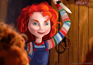 Disney Princesses as horror movie villains 11 6