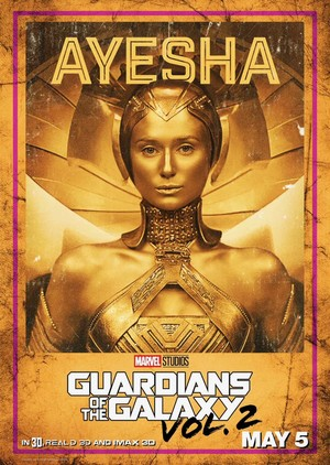 Guardians Of The Galaxy Vol. 2 ~ Character Poster - Ayesha
