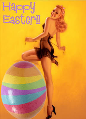 Happy Easter Pin Up Girl
