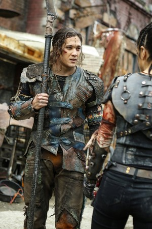 "The 100 ""Die All, Die Merrily"" (4x10) promotional picture"