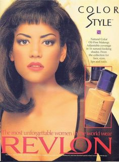 Promo Ad For Revlon Cosmetics
