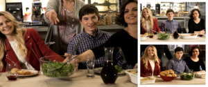 Morrilla on set with Jared A.K.A. Swan-Mills Family dinner at Granny's
