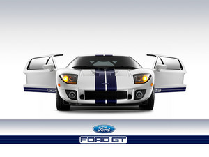 White Ford GT