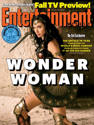 Wonder Woman on the cover of Entertainment Weekly - May 2017