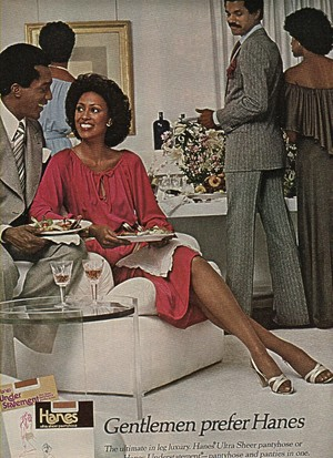 1977 Promo Ad For Hanes Pantyhose