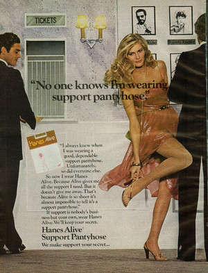1979 Promo Ad For Hanes Pantyhose