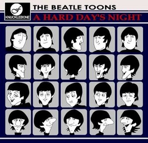 A Hard Day's Night Album Cover - The Beatles Cartoon Version