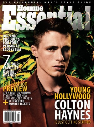 Colton Haynes - Essential Homme Cover - 2012
