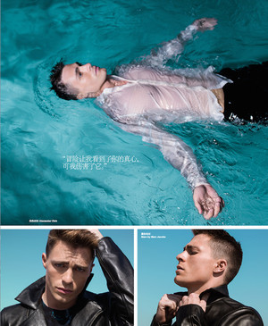 Colton Haynes - Harper's Bazaar China Photoshoot - 2014