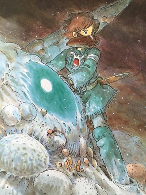 The Art Of Nausicaä Of The Valley Of The Wind - Watercolor Impressions - Hayao Miyazaki