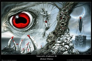 new hp lovecraft s nightmare b by michael whelan art print poster 24x36 free s h f2a95095c5c6657b2e9