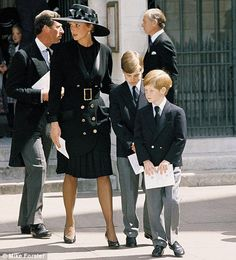 Funeral Services For Diana's Father Back In 1992