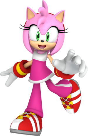 Amy Rose The Hedgehog Animiert 3