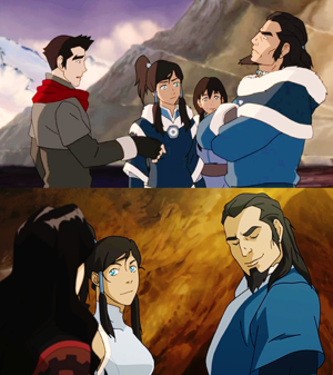 Daddy Tonraq clearly approves of Korrasami