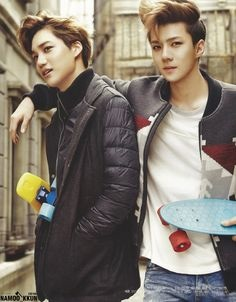 Kai and Sehun