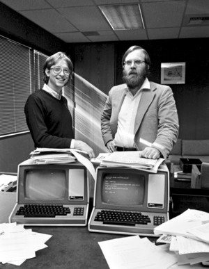 Microsoft Co-Founders, Bill Gates And Paul Allen