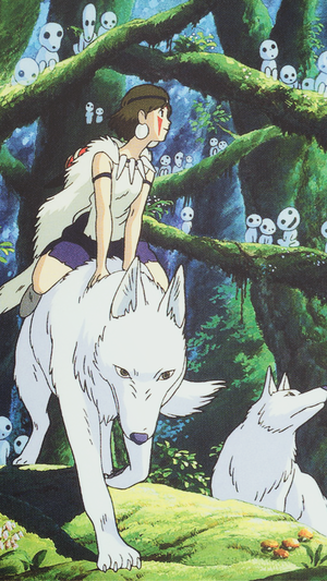 Princess Mononoke Phone वॉलपेपर