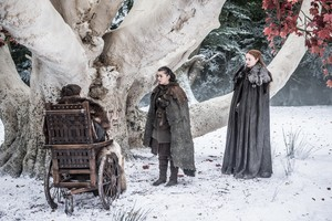 Sansa, Arya and Bran 7x04 - The Spoils of War