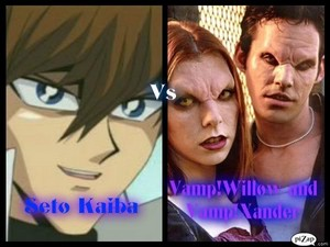 Seto Kaiba Vs VampWillow and VampXander