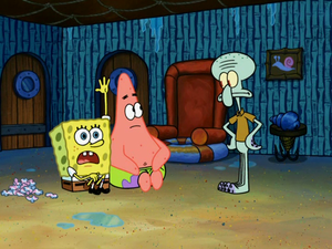 Spongebob, Patrick and Squidward