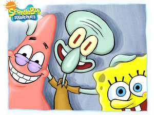 Spongebob, Patrick and Squidward wallpaper