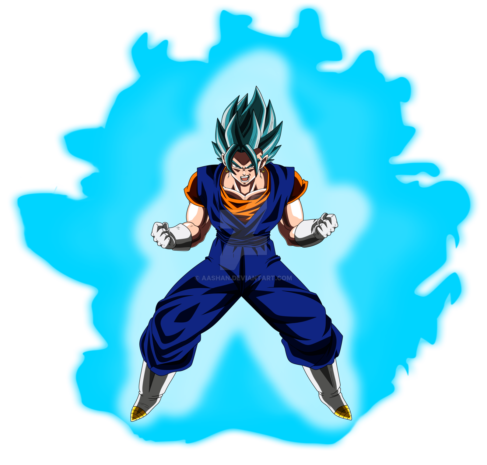 vegito super saiyan blue powering up colored with  by aashan dapvbli