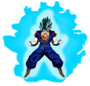 vegito super saiyan blue powering up colored with por aashan dapvbli
