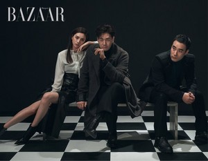 After School's Nana with 'The Swindlers' casts for Harper's Bazaar Magazine November Issue
