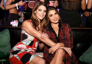 Ashley with her Twilight co-star Nikki Reed