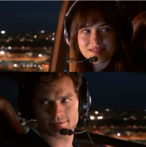 Christian and Ana in Charlie Tango