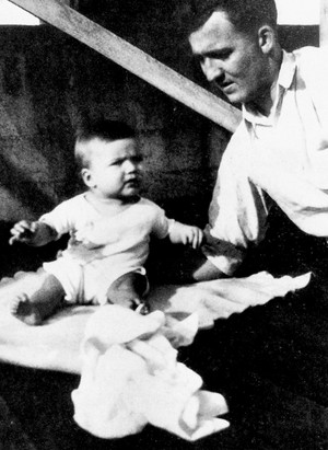 Clint Eastwood photographed with his father, Clinton Sr. (late 1930)