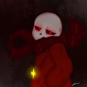 FlowerFell!Sans the Skeleton Crying