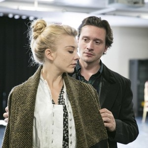 "Natalie Dormer and David Oakes in rehearsals for ""Venus in Fur"""