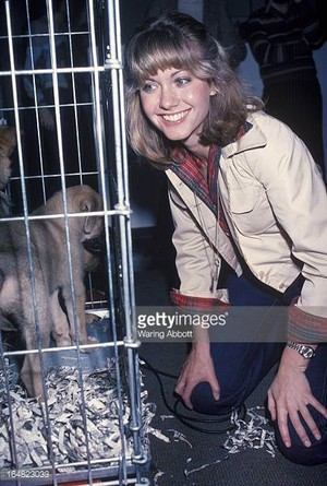 Olivia Visiting A Local Animal Shelter In 1977