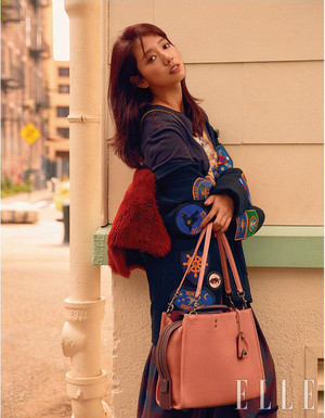 PARK SHIN HYE SPOTTED IN NEW YORK FOR OCTOBER 2017 ELLE