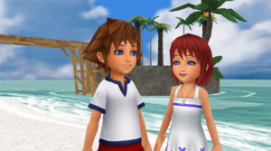 The First Met each other SoKai Day  Sora x Kairi .