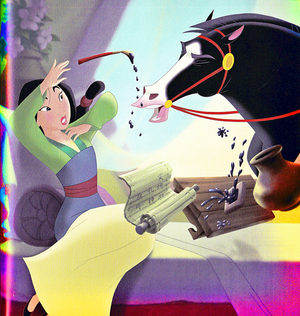 Walt 迪士尼 Book Scans – Mulan: Khan to the Rescue (English Version)