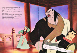 Walt 迪士尼 Book Scans –Mulan: The Story of Fa 花木兰 (Danish Version)