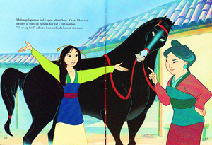 Walt 迪士尼 Book Scans – Mulan: The Story of Fa 花木兰 (Danish Version)