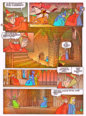 Walt ディズニー Movie Comics – Sleeping Beauty (Danish 1995 Version)