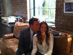 Amanda Righetti and Owain Yeoman
