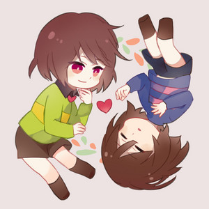 Chara Dreemurr and Frisk the Human