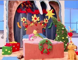 Cindy Lou Decorating Grinch's Cave