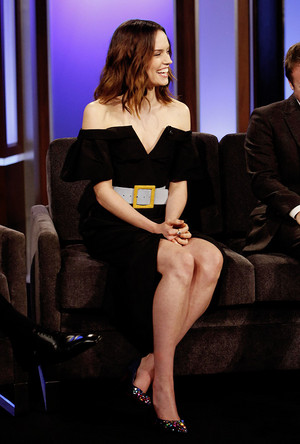 daisy Ridley on Jimmy Kimmel