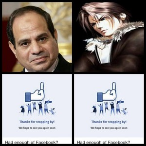 FUCK U TWO EGYPT PEOPLE HATE U ELSISI Squall Leonhart