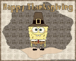 SpongeBob Thanksgiving fondo de pantalla