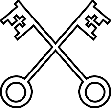The 2 Keys-The Vatican City Symbol (Version 2)