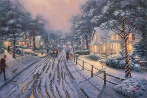 Thomas Kinkade Winter