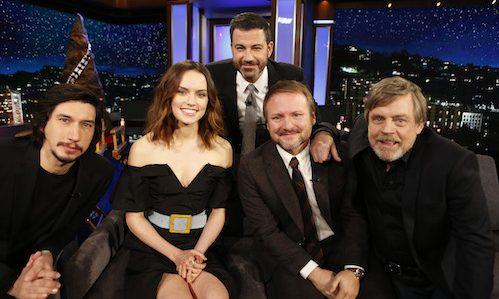 Cast Of Tlj On Jimmy Kimmel Etoile Etoile Star Wars Episode Viii The Last Jedi Photo 40885450 Fanpop