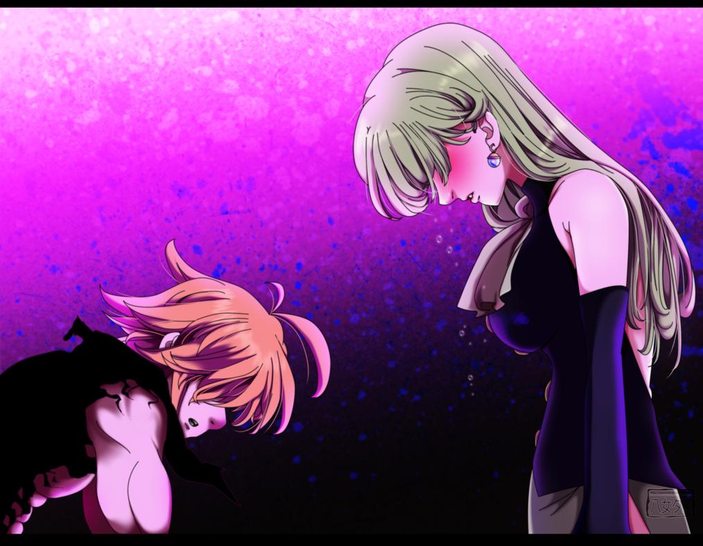 *Demon Meliodas Protecting Goddess Elizabeth* - Nanatsu No ...